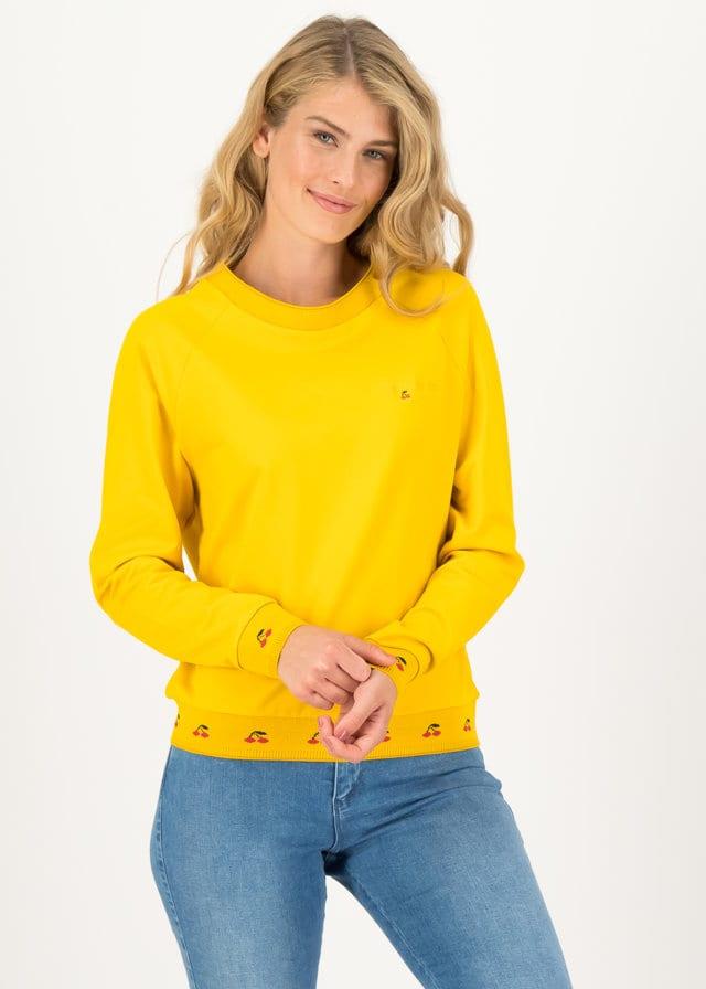 Sweatshirt Fresh 'n' Fruity Gelb von blutsgeschwister