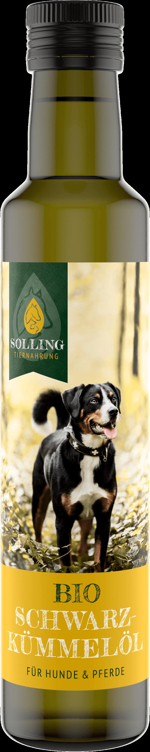 Schwarzkümmelöl für Tiere Futterergänzung für Hunde und Pferde 250 ml von Ölmühle Solling