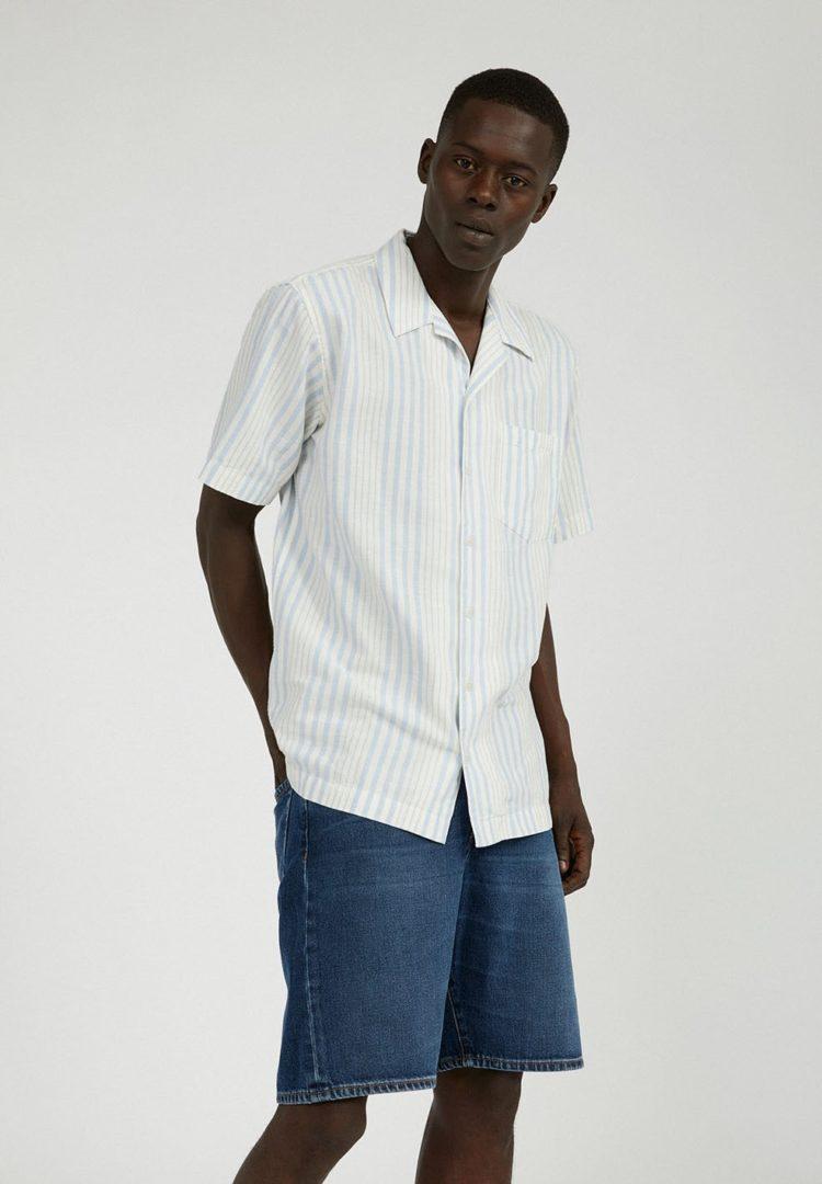 Hemd Flaavio In Off White-blue Violet-sunlight von ArmedAngels