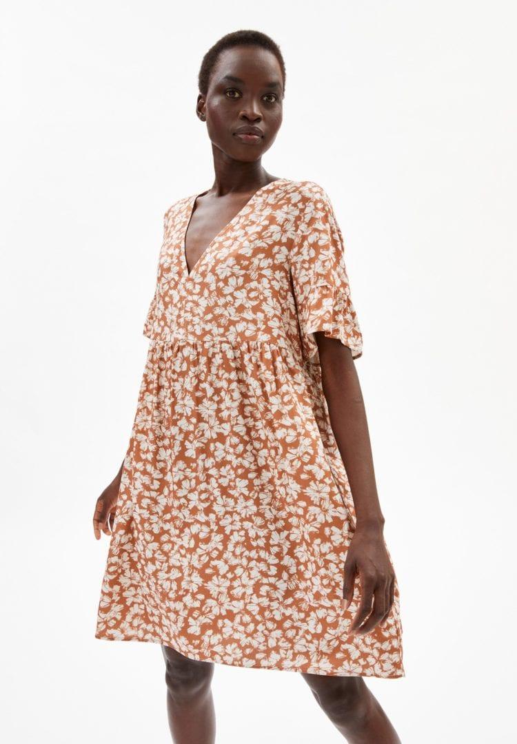 Kleid Aaino Straw Flower In Oatmilk von ArmedAngels