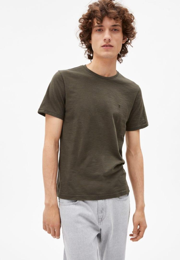 T-shirt Jaames Structure In Dark Pine-luna Rock von ArmedAngels