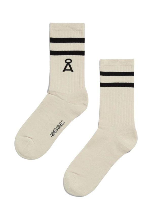 Socke Saamu Stripes In Raw-black von ArmedAngels