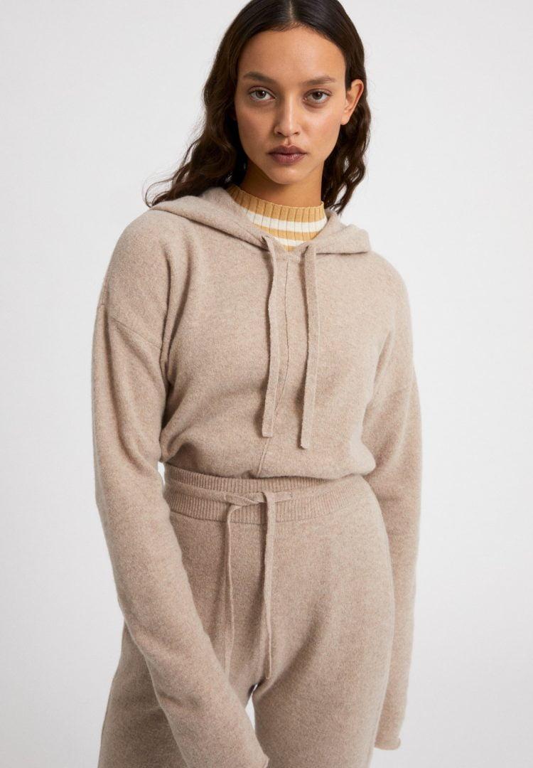 Strickpullover Brianaa Recycled Wool In Dark Caramel Melange von ArmedAngels