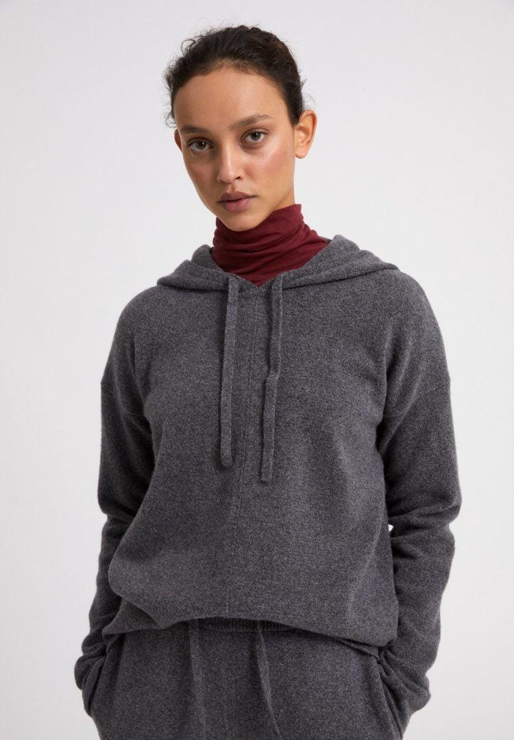 Strickpullover Brianaa Recycled Wool In Mid Grey Melange von ArmedAngels
