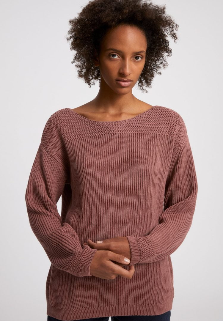 Strickpullover Raachela Earthcolors® In Natural Dusty Rose von ArmedAngels