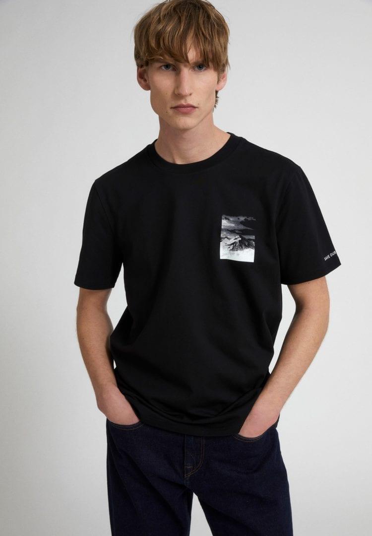 T-shirt Aado Peak In Black von ArmedAngels