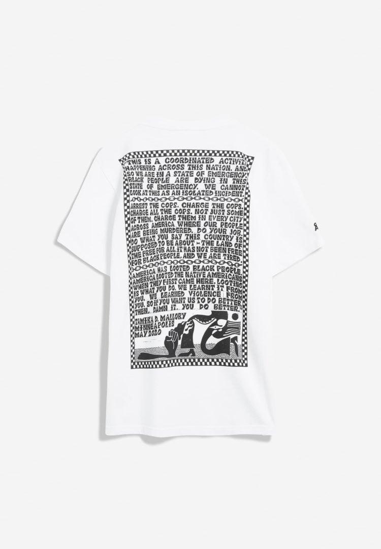 T-shirt Aado Solidarity 02 In White von ArmedAngels