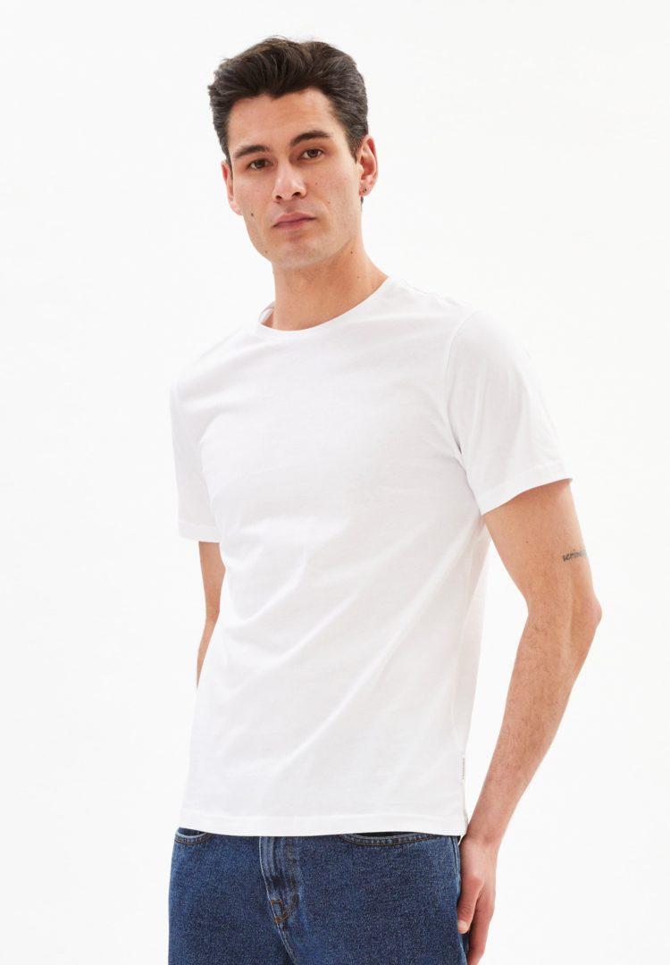 T-shirt Jaames In White von ArmedAngels