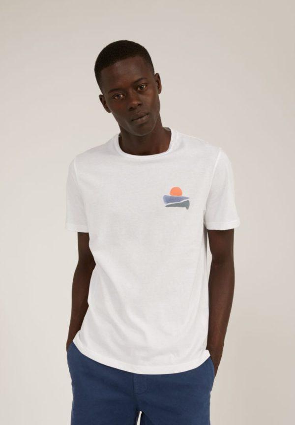 T-shirt Jaames Sunset In White von ArmedAngels