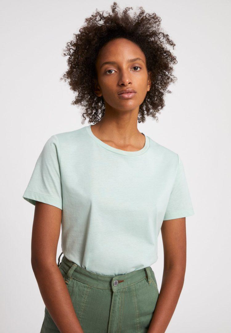 T-shirt Maraa Mercerized In Matcha Latte von ArmedAngels