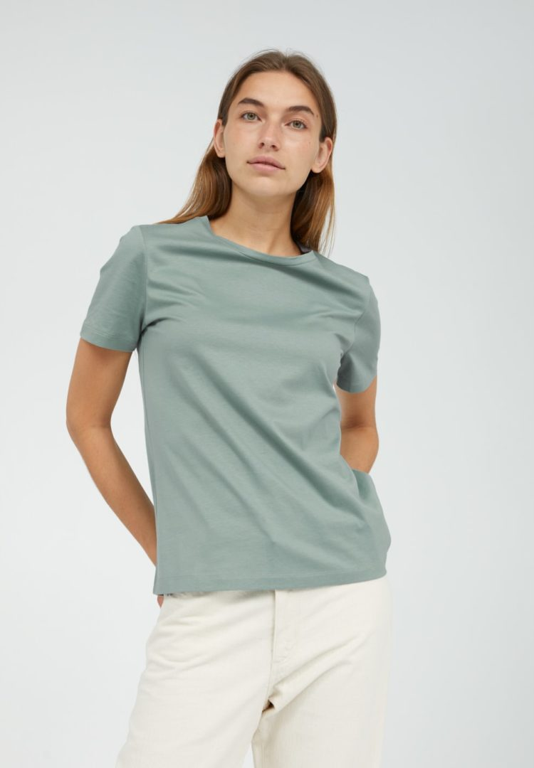 T-shirt Maraa Mercerized In Matcha von ArmedAngels