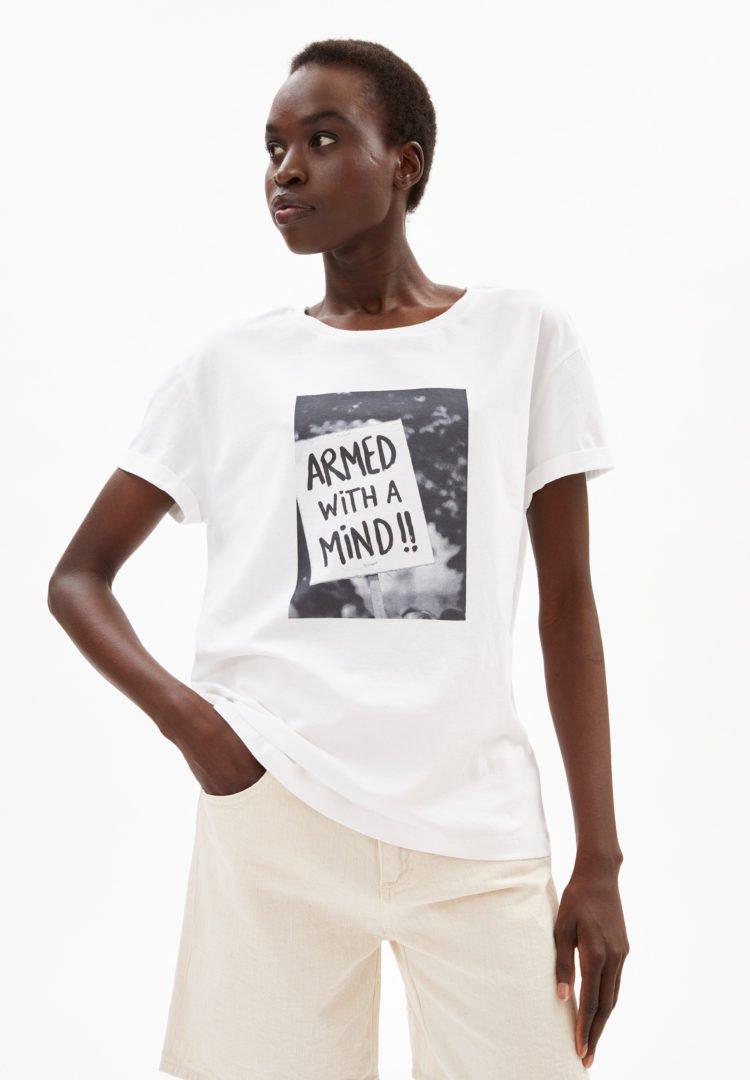T-shirt Naalin Demo In White von ArmedAngels