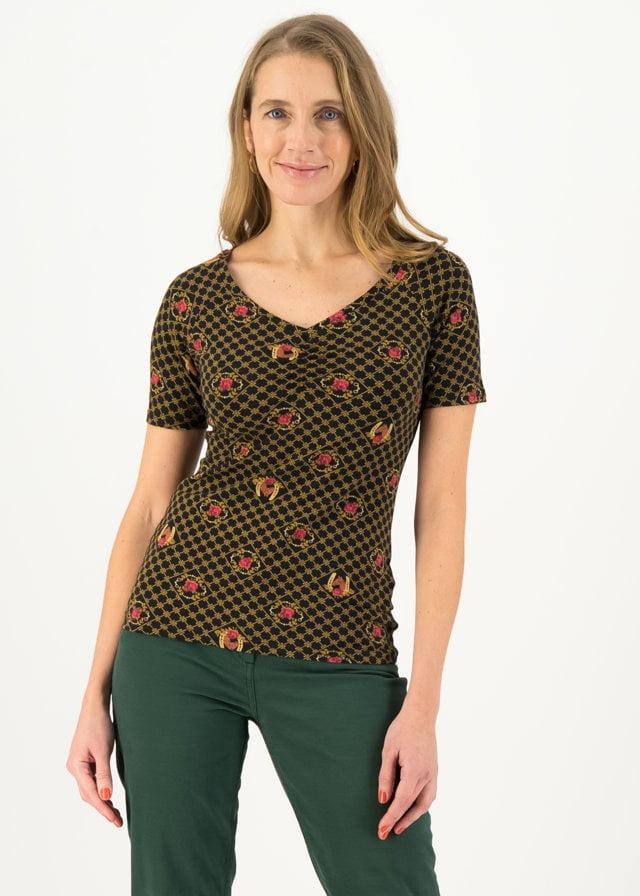 Jersey T-shirt Savoir-vivre Schwarz von blutsgeschwister