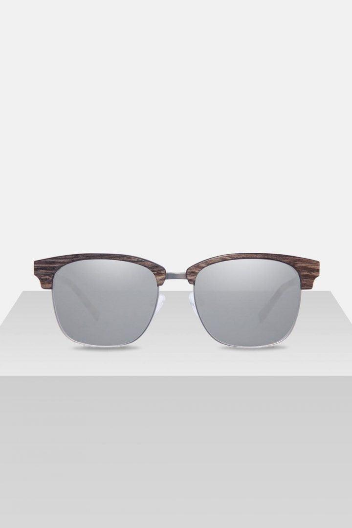 Sonnenbrille Albert - Walnut Silver von Kerbholz
