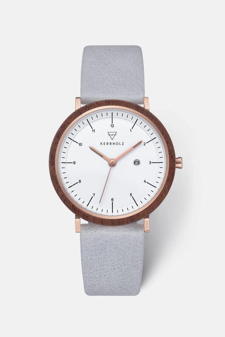 Uhr Amelie - Walnut Arctic von Kerbholz