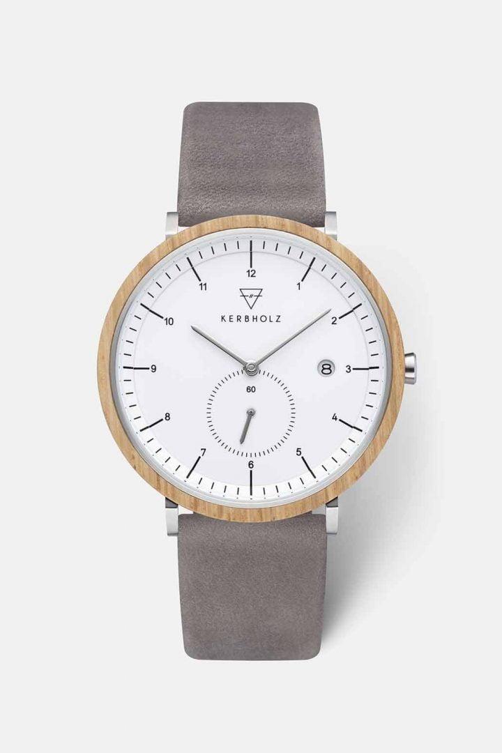 Uhr Anton - Oak Grey von Kerbholz