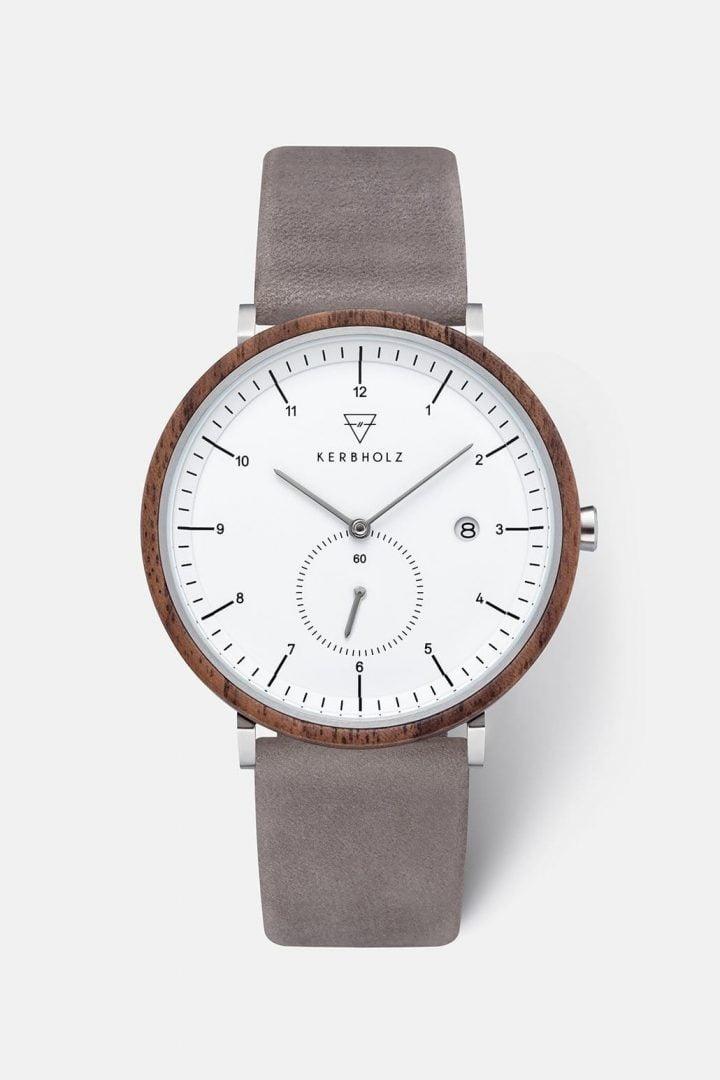 Uhr Anton - Walnut Grey von Kerbholz
