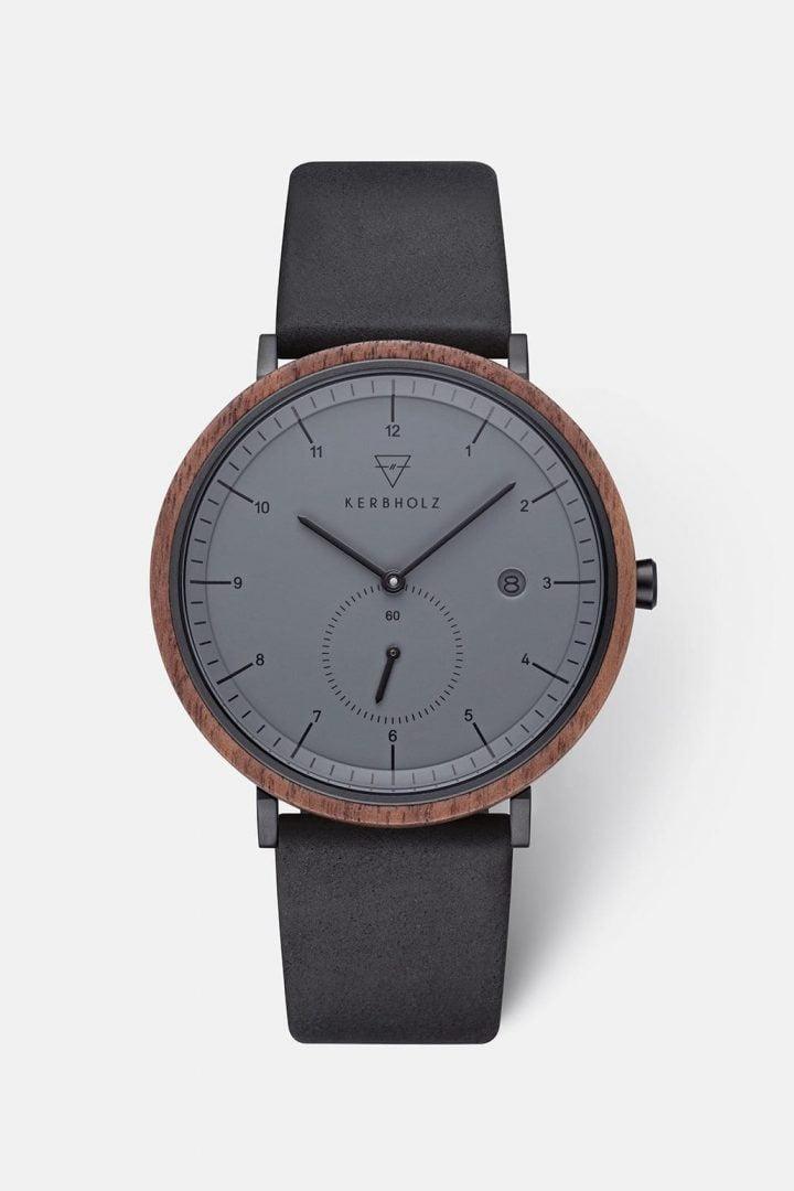 Uhr Anton - Walnut Midnight Black von Kerbholz
