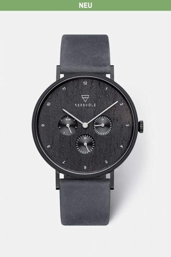 Uhr Caspar - Heritage Anthracite von Kerbholz