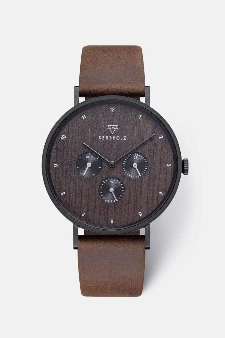 Uhr Caspar - Heritage Wood von Kerbholz