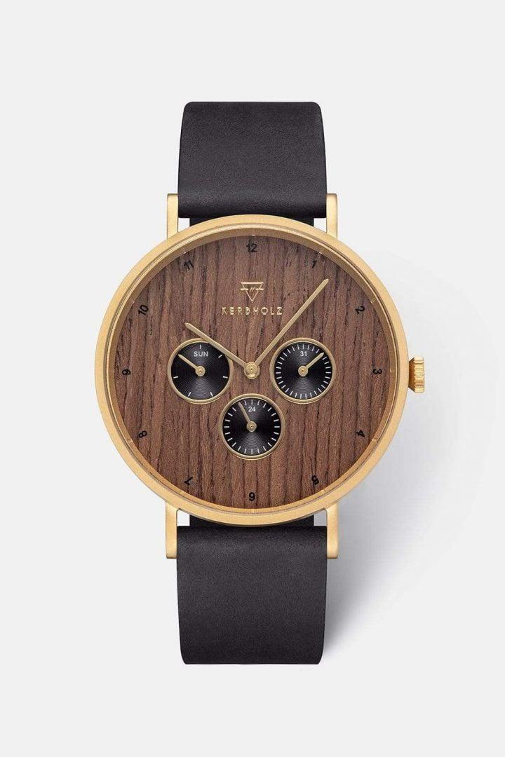 Uhr Caspar - Shining Wood von Kerbholz