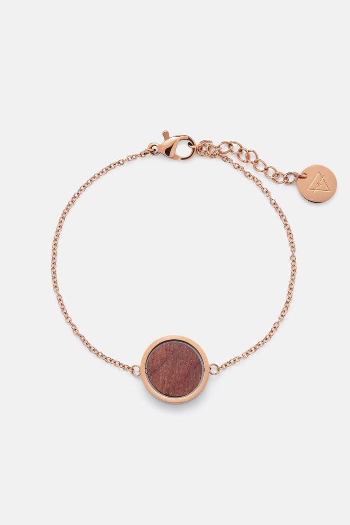 Schmuck Circle Bracelet - Rosewood Shiny Rosegold von Kerbholz