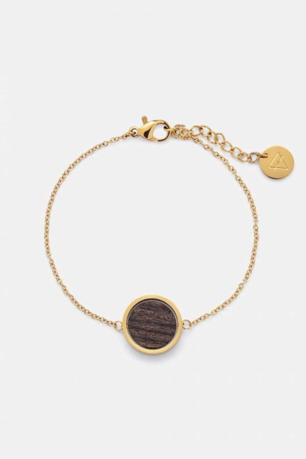 Schmuck Circle Bracelet - Sandalwood Shiny Gold von Kerbholz