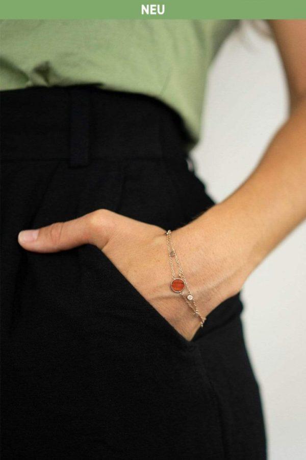 Schmuck Circle Double Bracelet - Rosewood Rosegold von Kerbholz