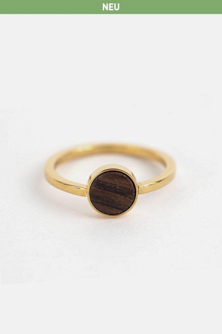 Schmuck Circle Ring - Gold von Kerbholz