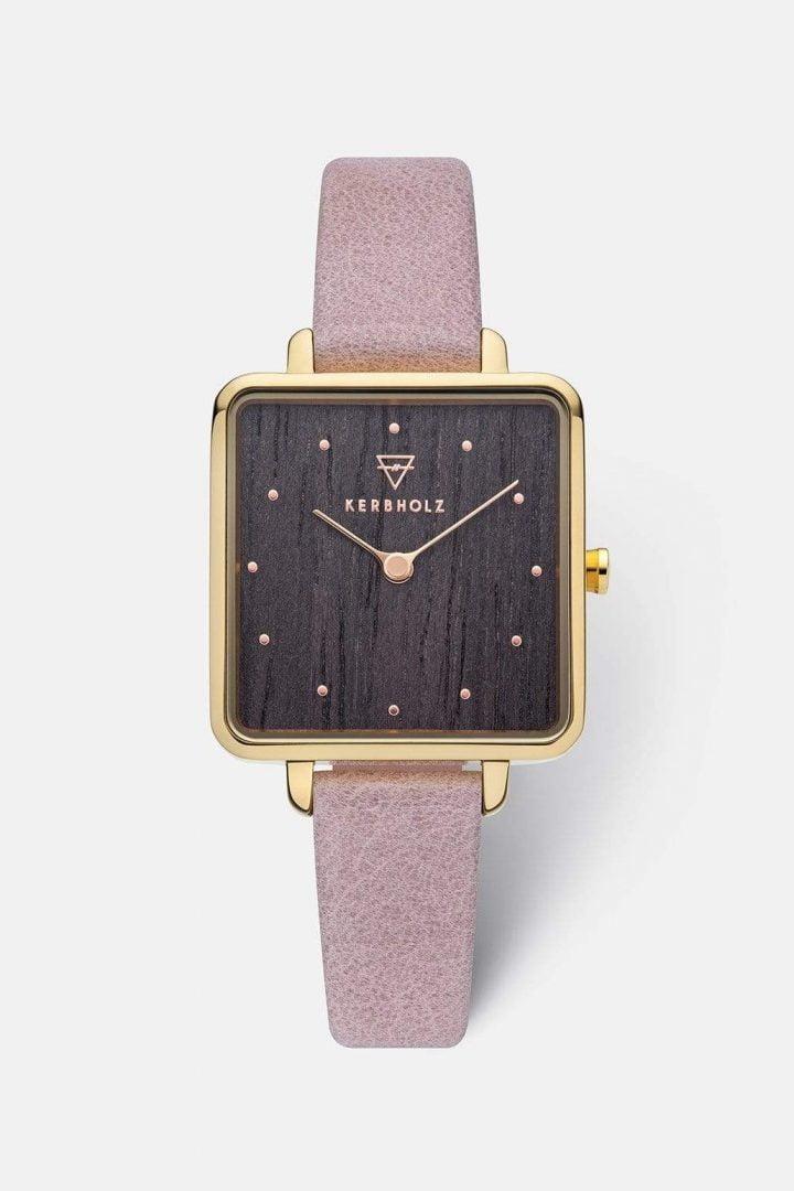 Uhr Elise - Gold Darkwood von Kerbholz