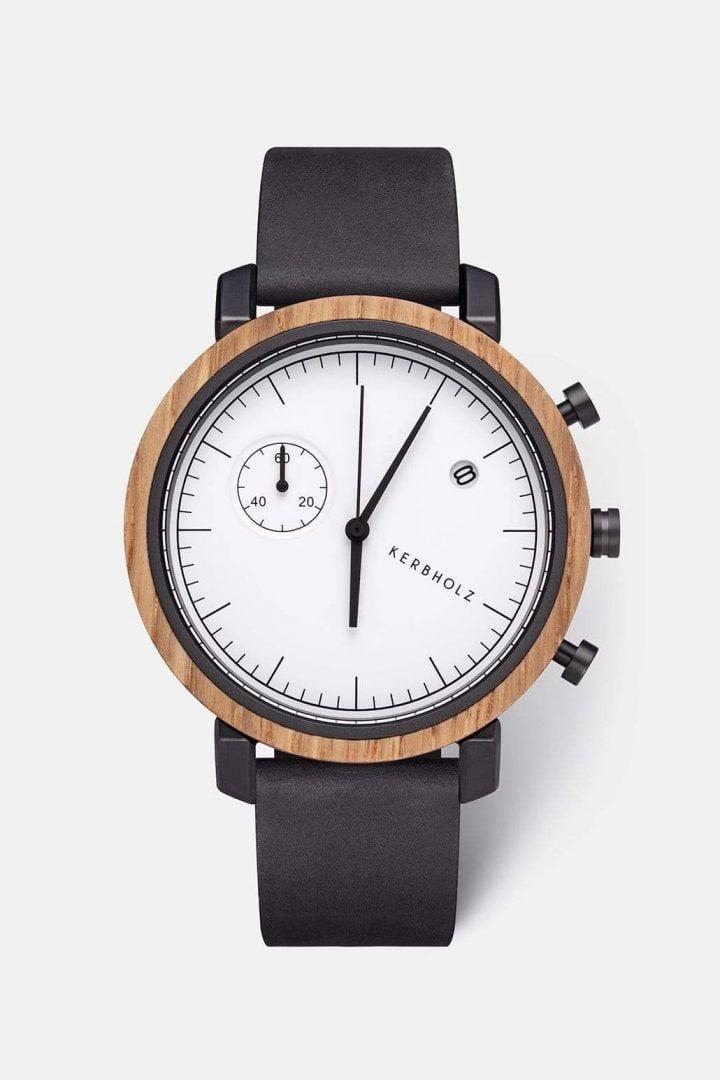 Uhr Franz - Oak Midnight Black von Kerbholz