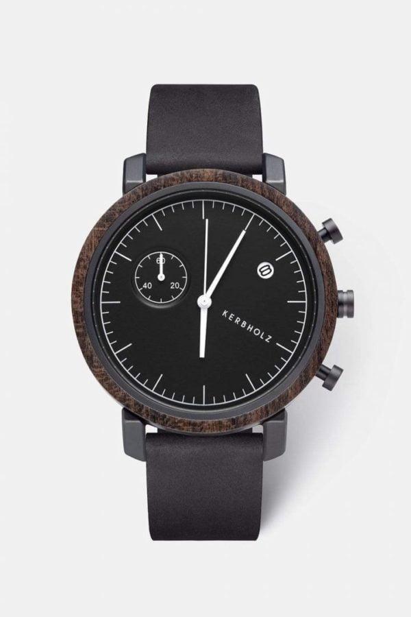 Uhr Franz - Sandalwood Midnight Black von Kerbholz