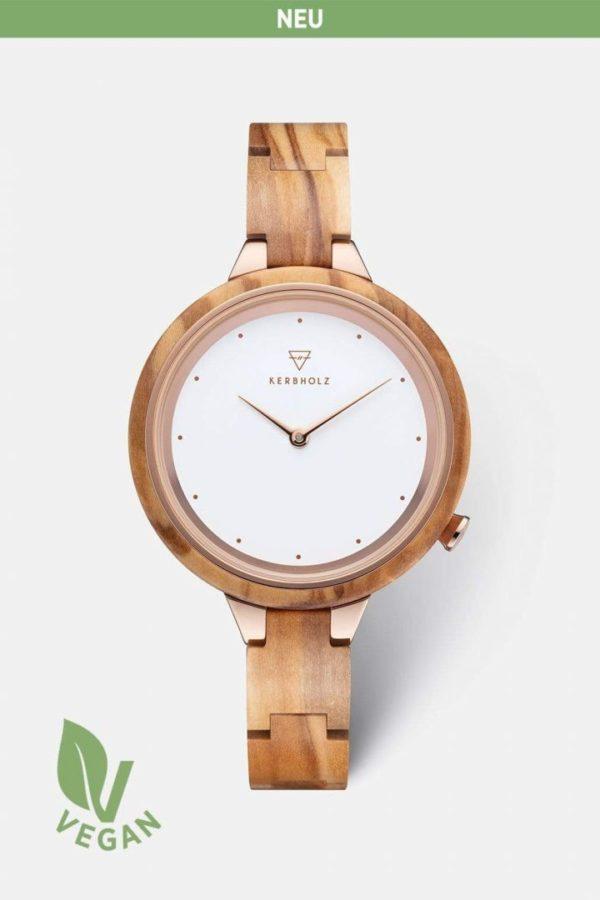 Uhr Hinze 2021 - Olivewood von Kerbholz
