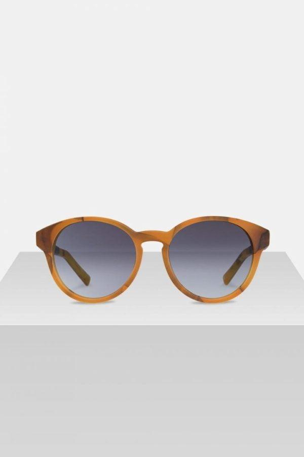 Sonnenbrille Leopold - Amber Orange von Kerbholz