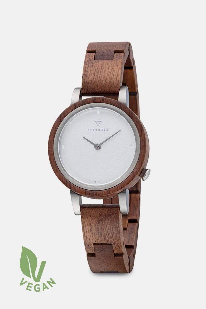 Uhr Luise Wood - Walnut von Kerbholz