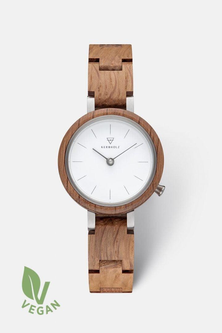 Uhr Matilda - Oak von Kerbholz