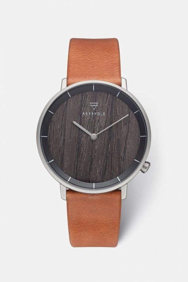 Uhr Mattis - Darkwood Cognac von Kerbholz
