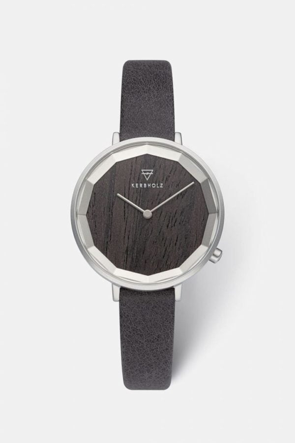 Uhr Mia - Darkwood Black von Kerbholz