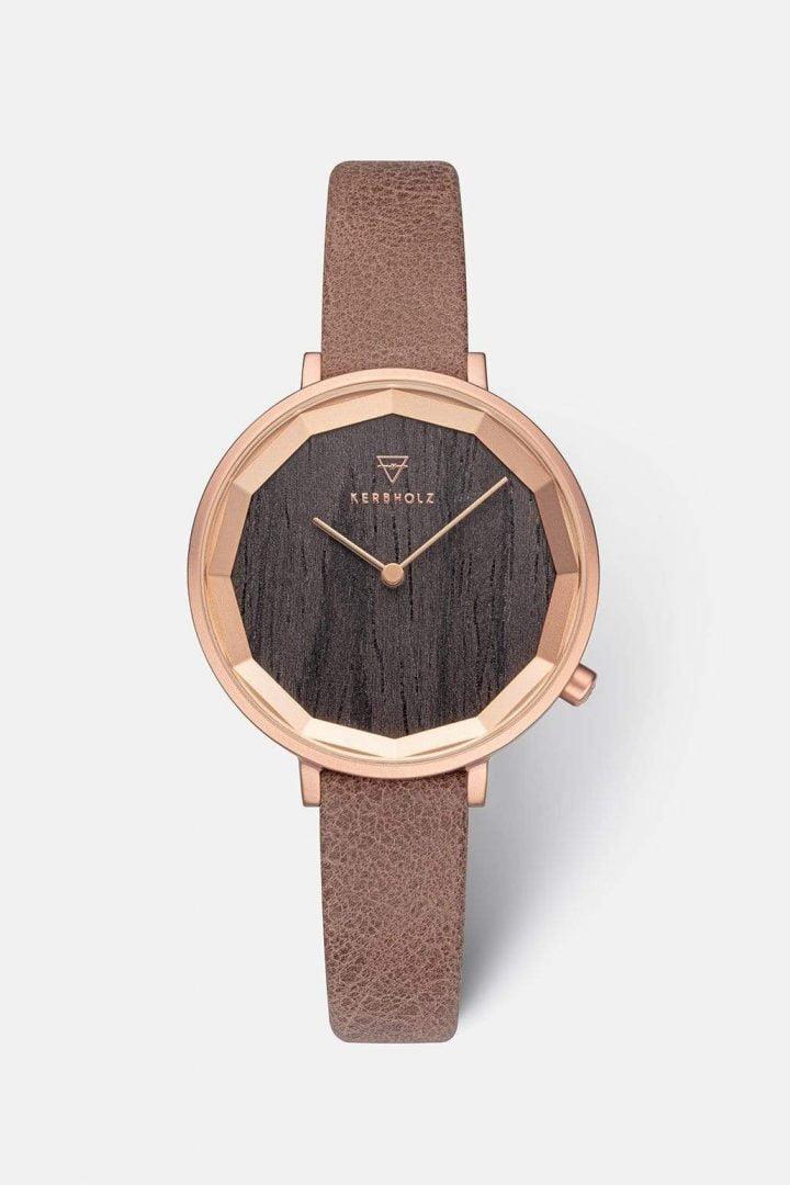 Uhr Mia - Darkwood Mokka von Kerbholz