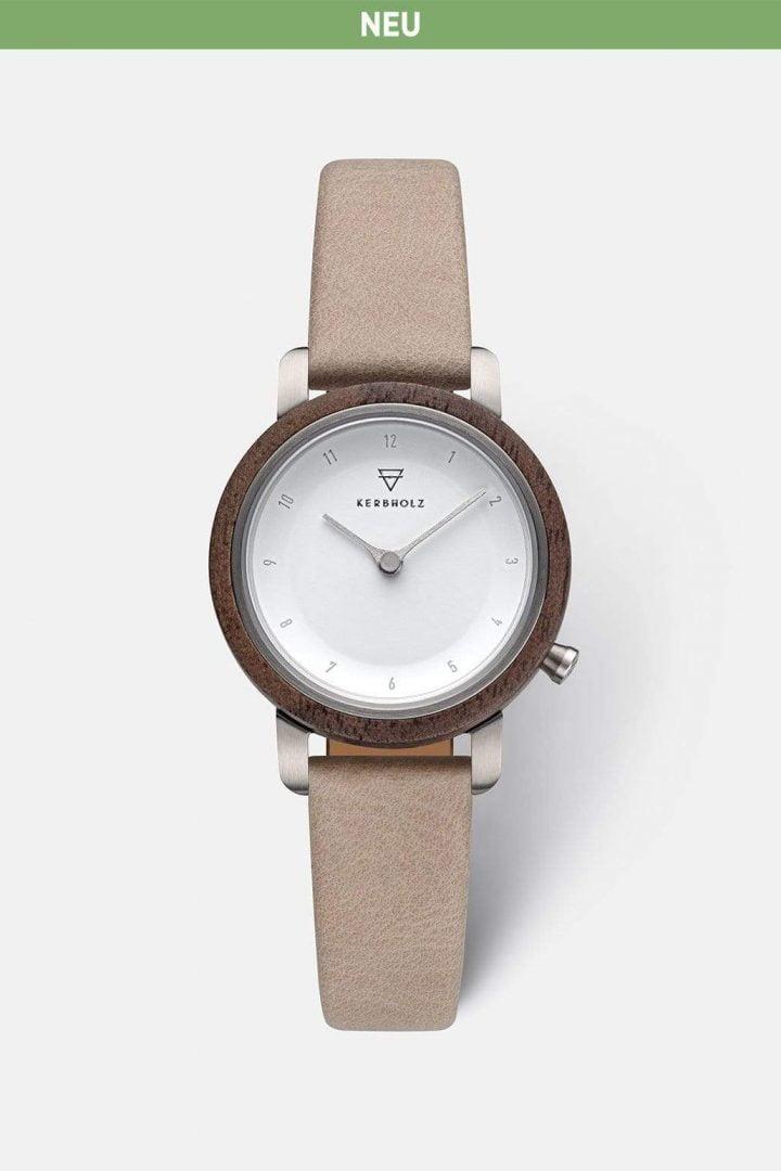 Uhr Sophie - Walnut Sand von Kerbholz