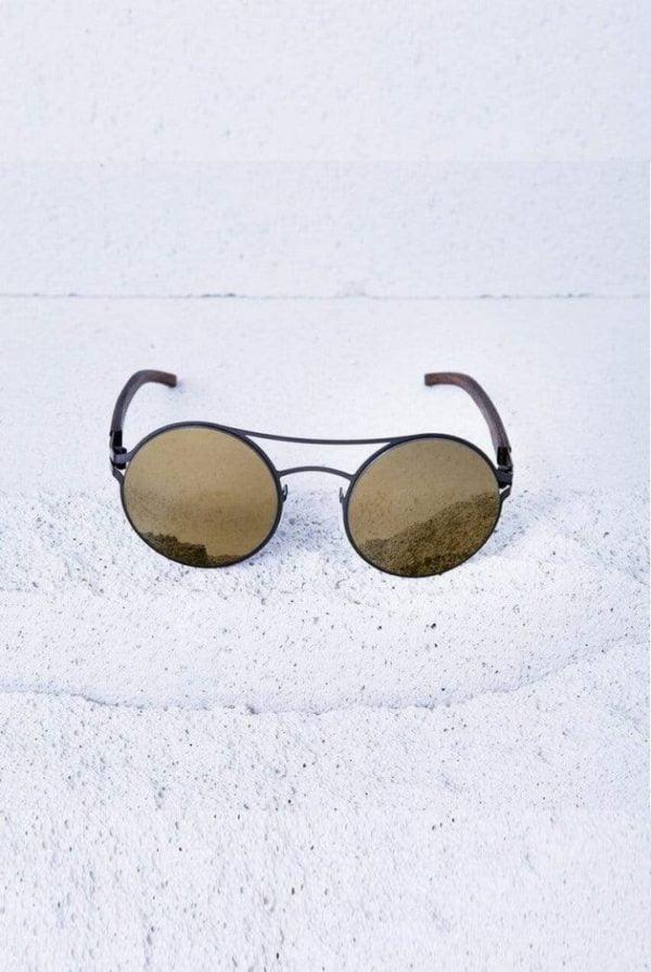 Sonnenbrille Tom - Gunmetal von Kerbholz