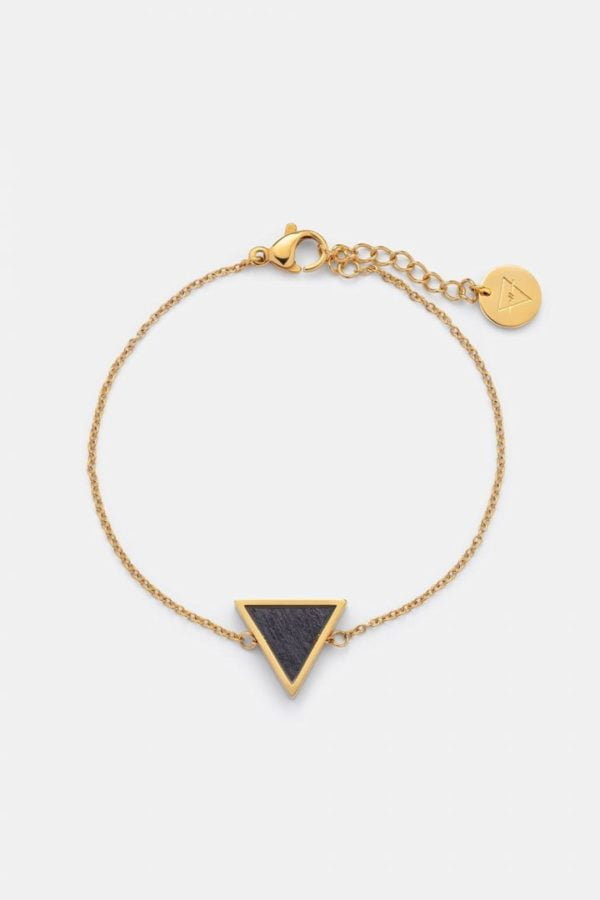 Schmuck Triangle Bracelet - Sandalwood Shiny Gold von Kerbholz