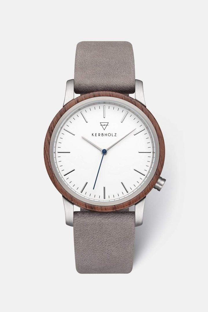 Uhr Walter - Walnut Grey von Kerbholz