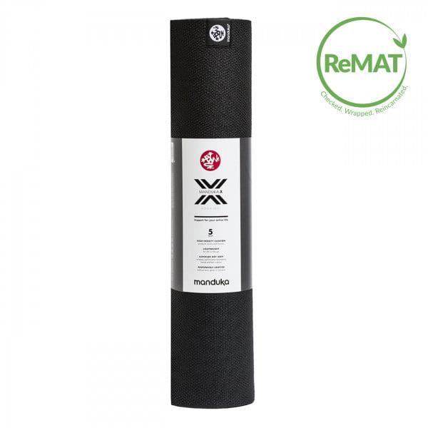 Yogamatte Manduka X Mat Black - ReMAT von Manduka