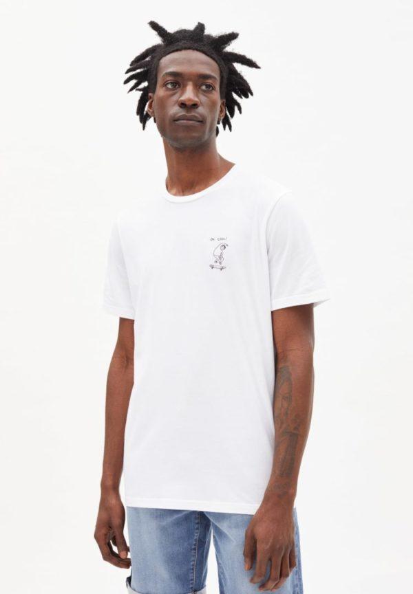 T-shirt Jaames Ok Cool In White von ArmedAngels