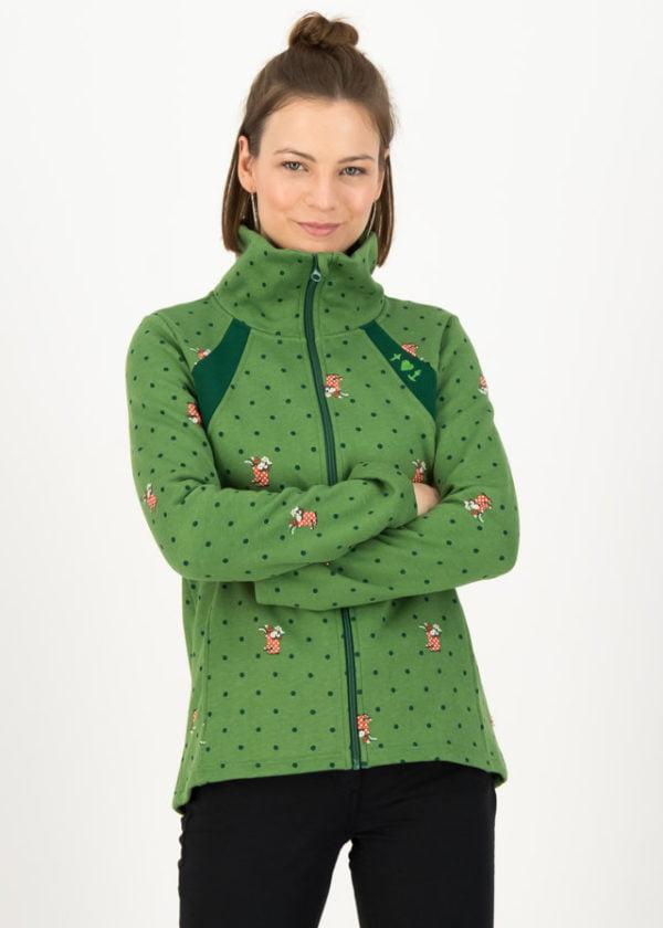 Fleecejacke Cosyshell Turtle Grün von blutsgeschwister