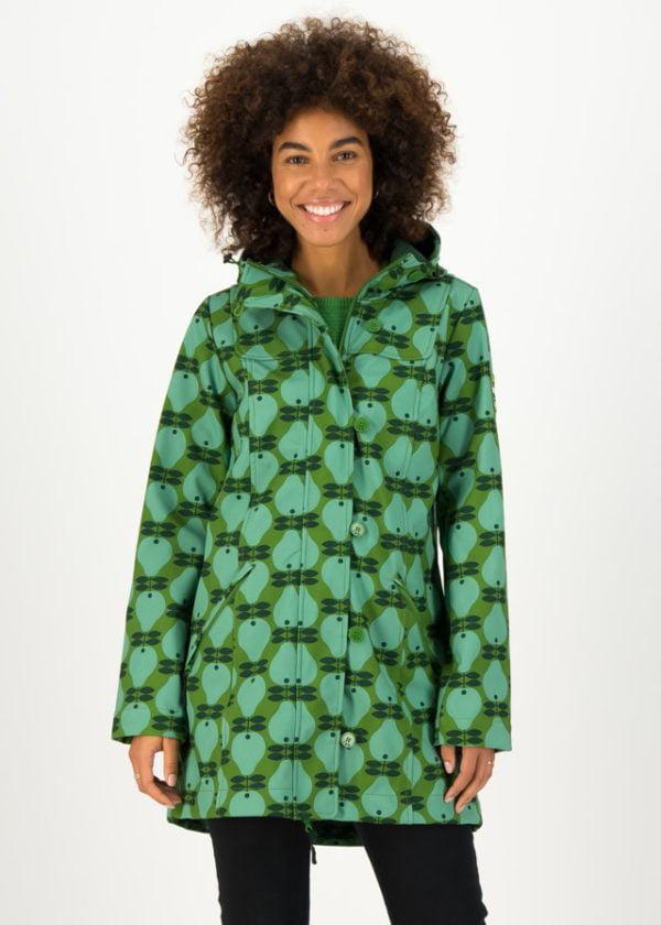 Softshell-parka Wild Weather Long Anorak Grün von blutsgeschwister