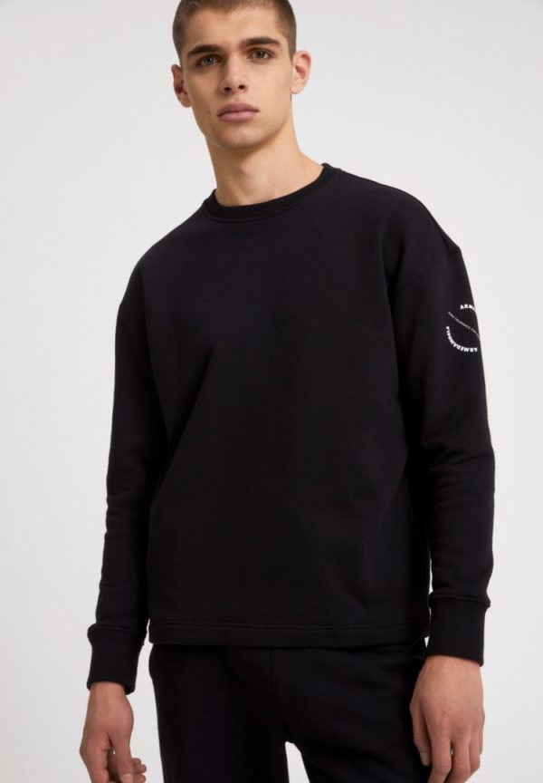 Sweatshirt Edaar Aact In Black von ArmedAngels