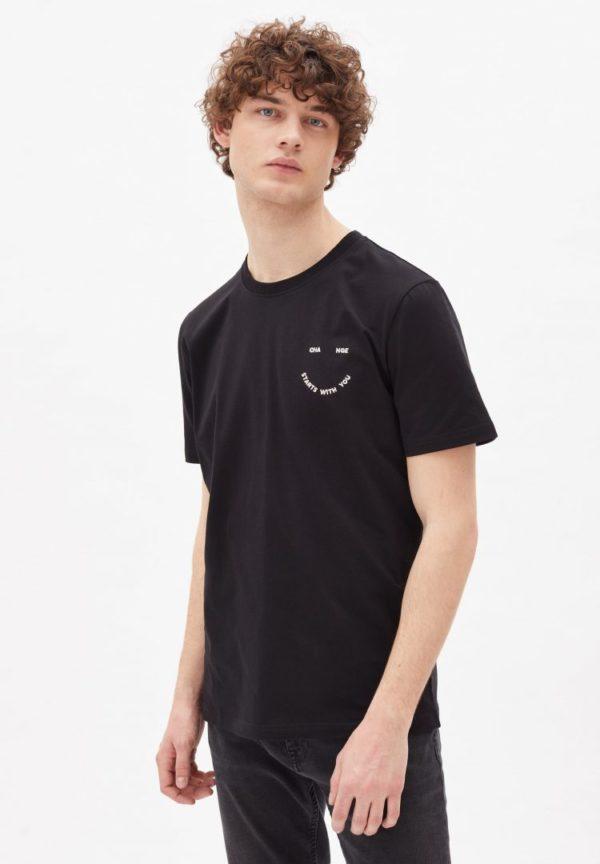 T-shirt Aado Smile In Black von ArmedAngels