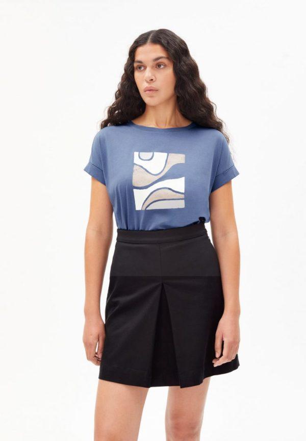 T-shirt Idaa Soft Hills In Shadow Blue von ArmedAngels